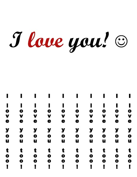 love you1 Printable Tear Off I Love You Flier